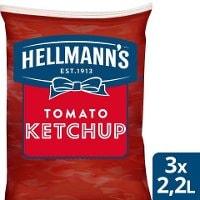 HELLMANN'S  Ketchup Påse för dispenser, 3 x 2,5 kg