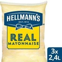 HELLMANN'S  Mayonnaise Påse för dispenser, 79%, 3 x 2,25 kg -