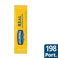 HELLMANN'S  Real Mayonnaise portion, 79%, 198 x 10 ml