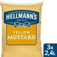 HELLMANN'S  Senap Påse för dispenser, 3 x 2,5 kg