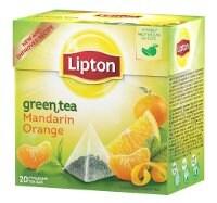 Lipton Green Tea Mandarin Orange, pyramid (utan kuvert) 12 x 20 påsar -