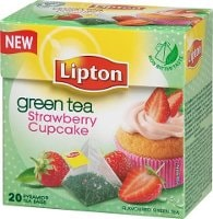 Lipton Green Tea Strawberry Cupcake, pyramid (utan kuvert) 12 x 20 påsar