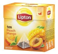 Lipton Peach Mango Tea, pyramid (utan kuvert) 12 x 20 påsar -
