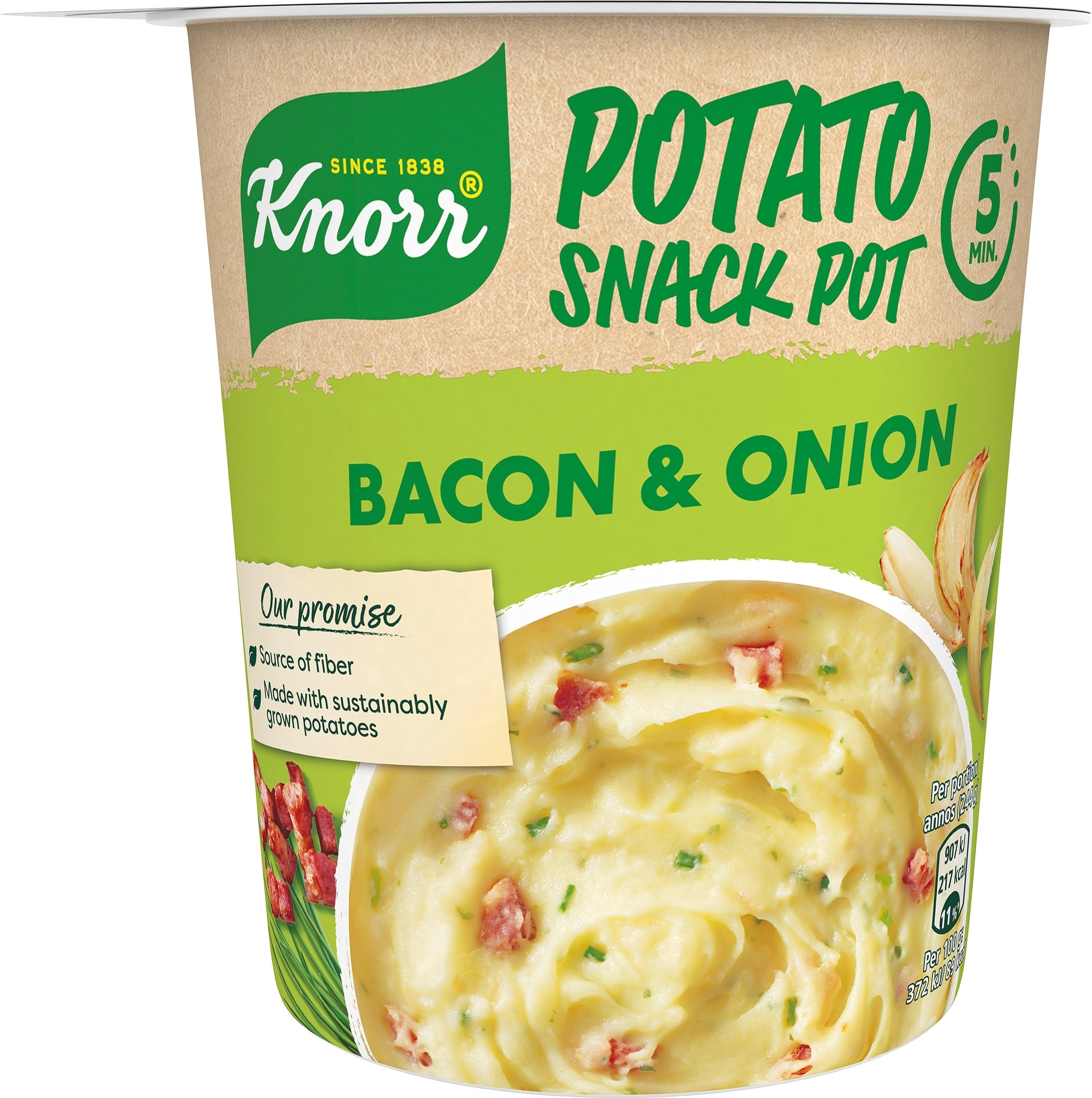 Snack Pot Mash Potato, 8 x 51 g -