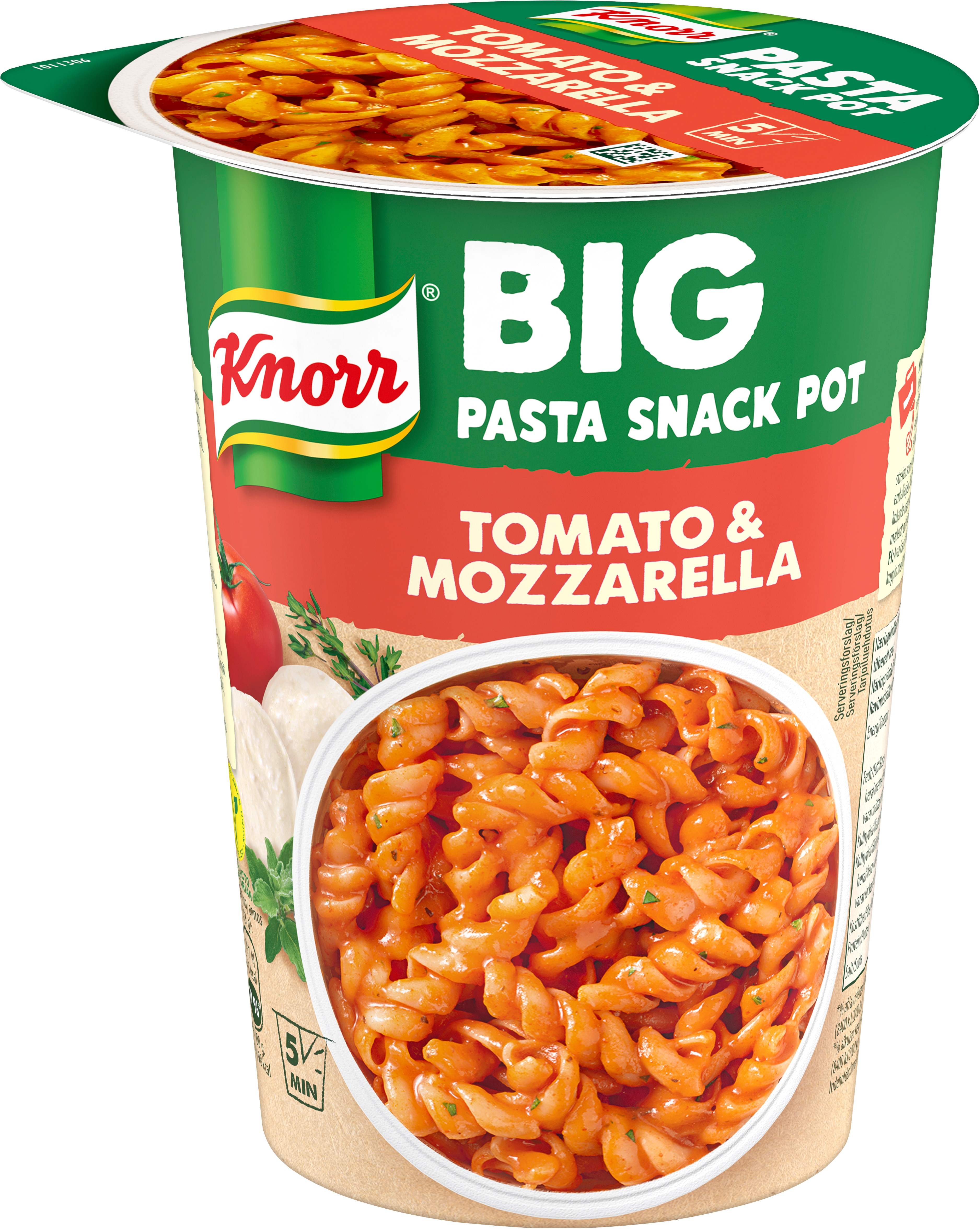 Snack Pot BIG, Tomato & Mozzarella 8x 93 gr -