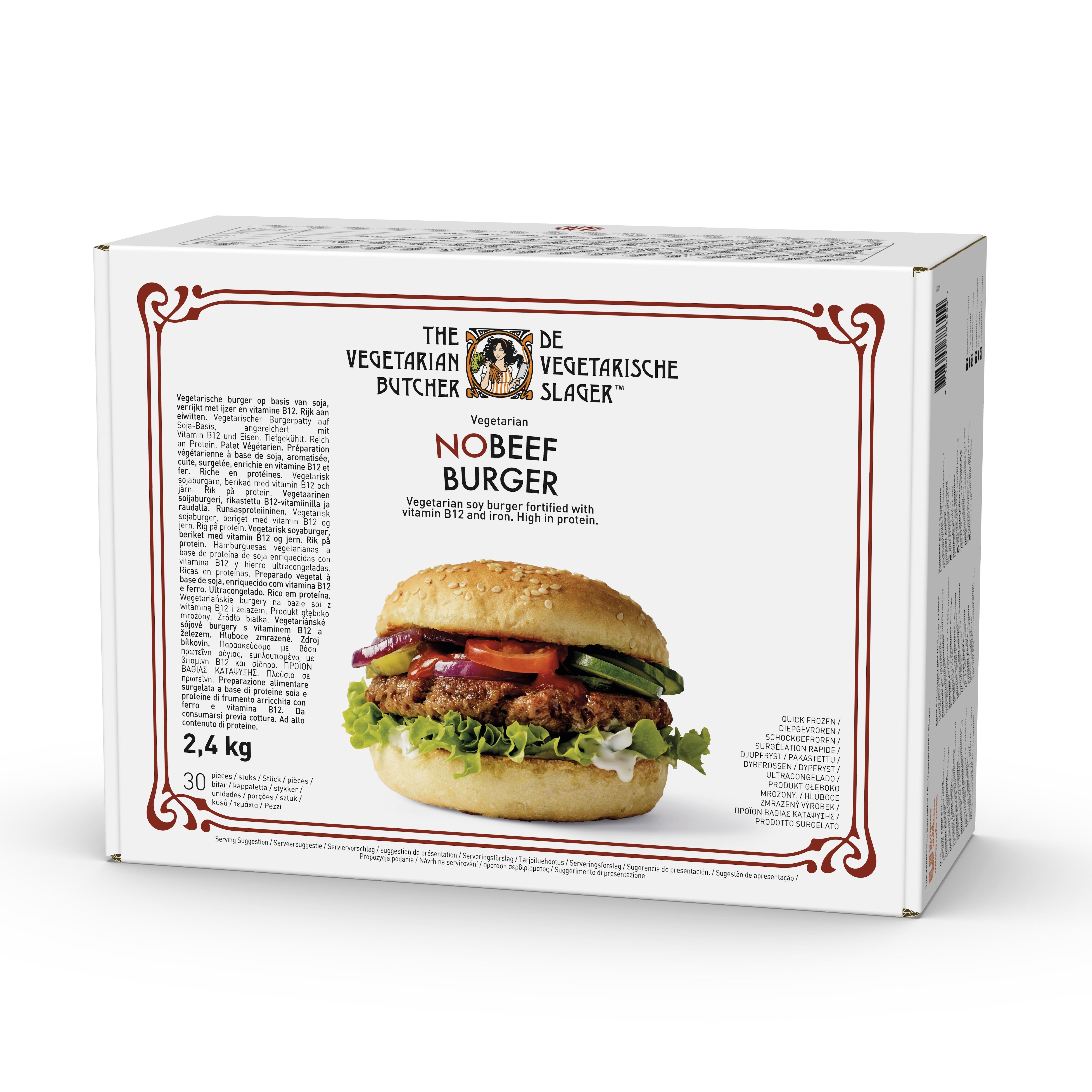 No Beef Burger, vegoburgare 1x2,4 kg ( 30 st) -