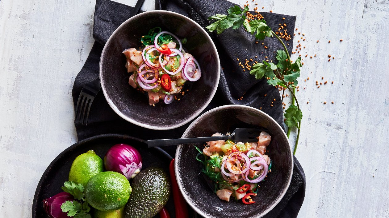 Asiatisk lax ceviche med lime
