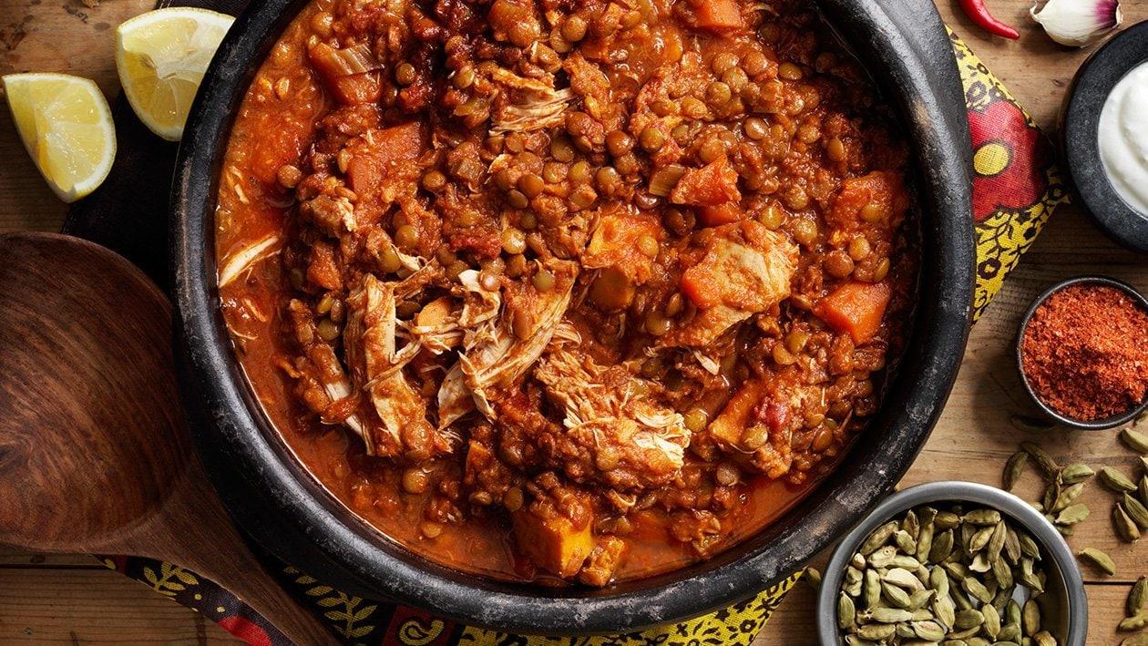 Het Etiopisk one pot-gryta med kyckling och linser