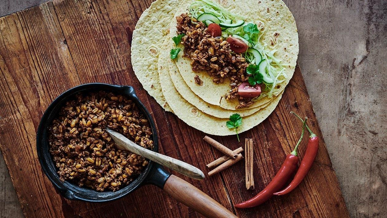 Tortillas med kyckling och kamutvete
